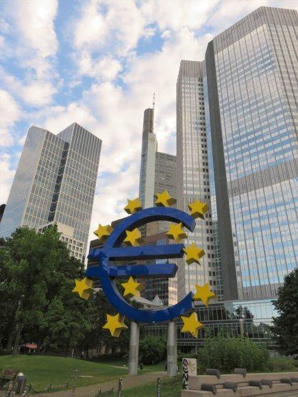 Saulės Paltanavičiūtės nuotr./Frankfurte galima rasti ir paminklą eurui