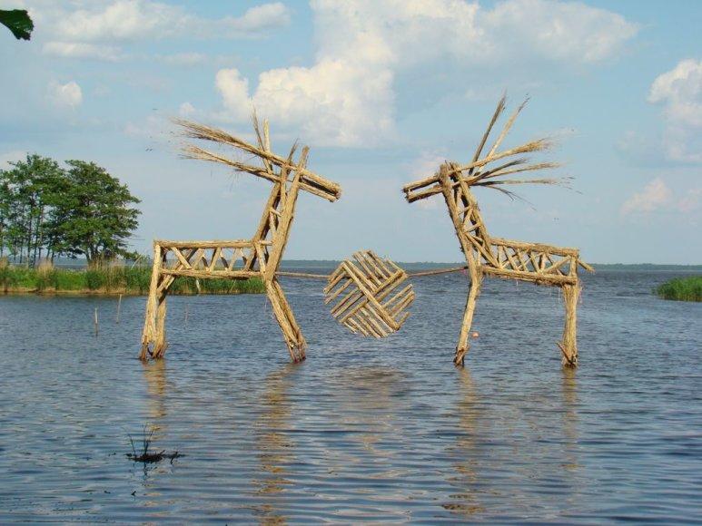 VSTT nuotr./K.Musteikio nendrinė skulptūra