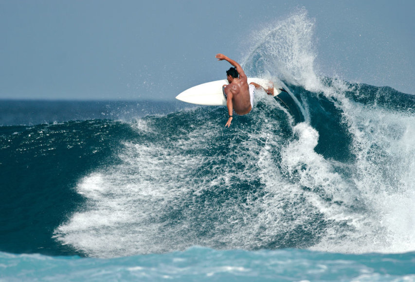 Shutterstock nuotr./Maldyvai – viena iš bangų gaudytojams skirtų krypčių