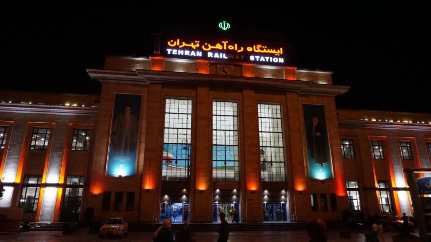 Vytauto Juršėno nuotr./Teherano geležinkelio stotis