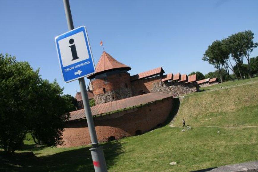 Kauno regiono turizmo informacijos centras Kauno pilyje.