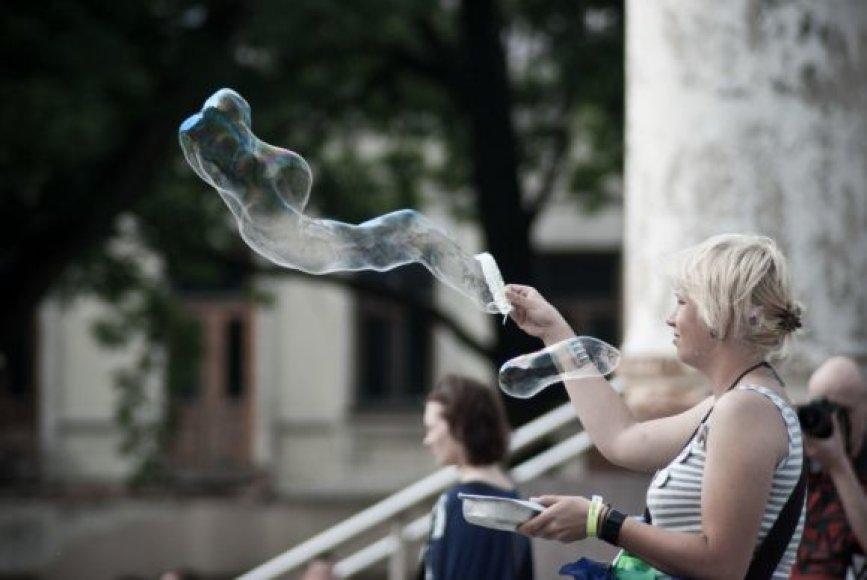 """Akcija """"Burbuliatorius 02"""" vyko ir Kaune."""
