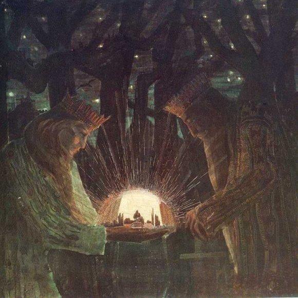 Spektaklis sukurtas M.K.Čiurlionio paveikslų motyvais ir pagal laiškų fragmentus