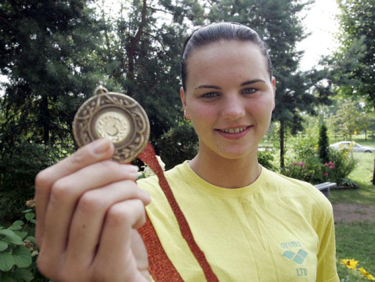 Pernai pasaulio povandeninio sporto čempionate pasižymėjusi L.Pleskytė, šiemet pelnė bronzą Europos čempionate