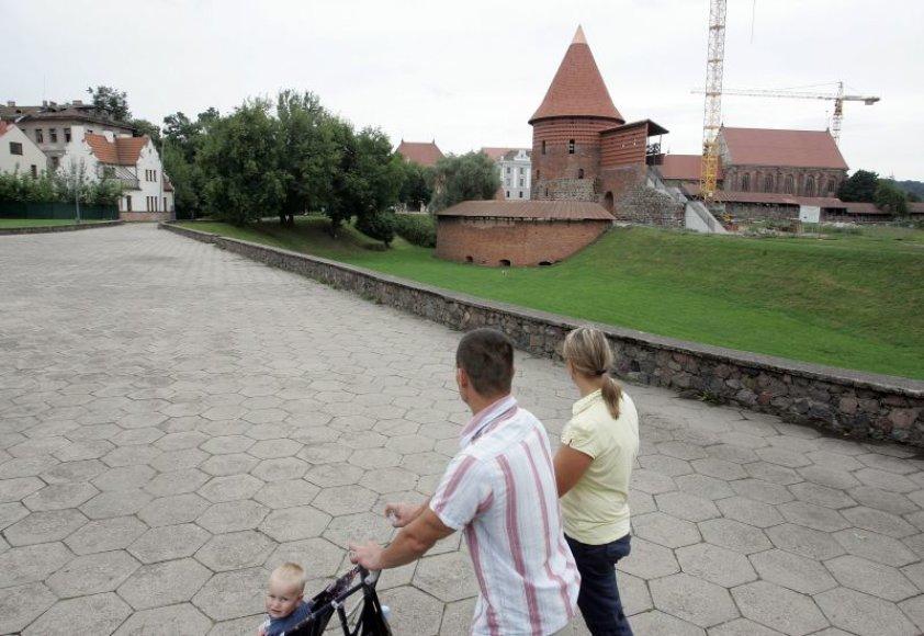 Kauno pilį aplanko didžioji dalis mieste viešinčių turistų.