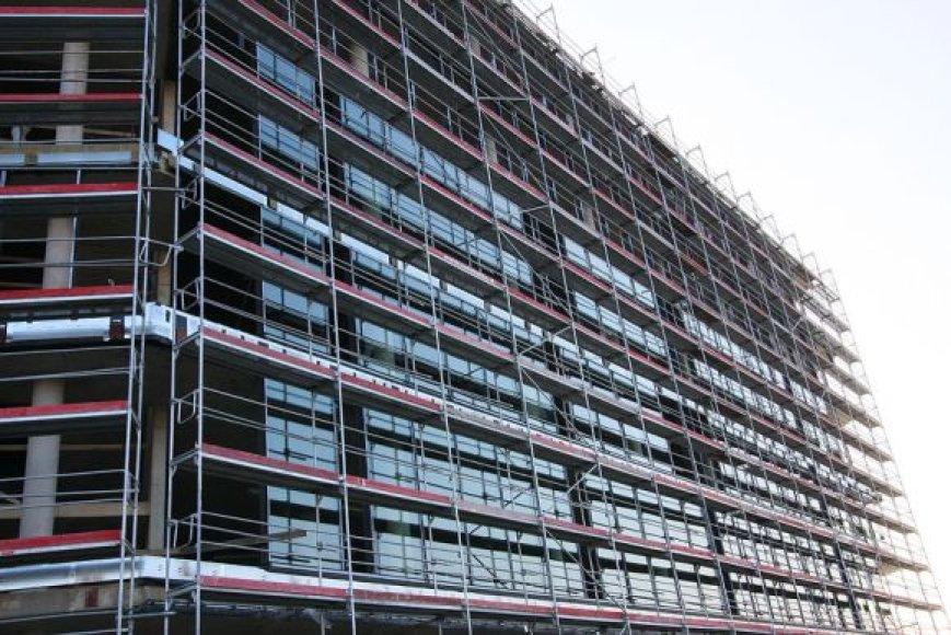 Stiklinis Žalgirio arenos fasadas