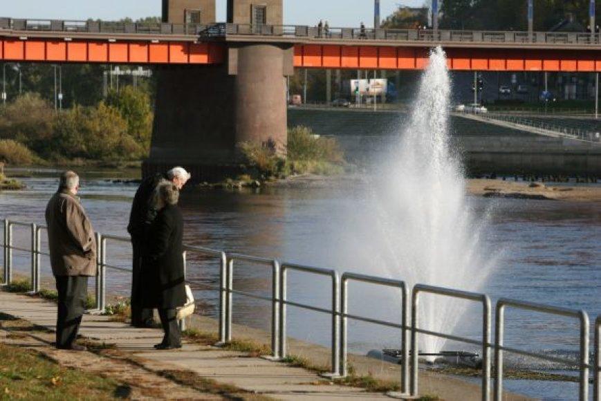 Viduryje upės įrengtas fontanas patinka ne visiems