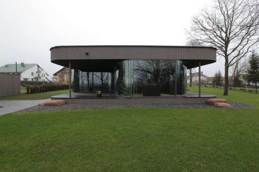 Vienas iš parodos eksponatų - architekto V.Adomavičiaus suprojektuotas namas.