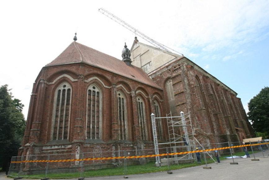 Šv. Jurgio Kankinio bažnyčia šiuo metu restauruojama.