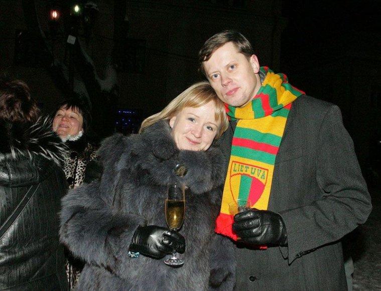 Kauno meras Andrius Kupčinskas su žmona Jurgita