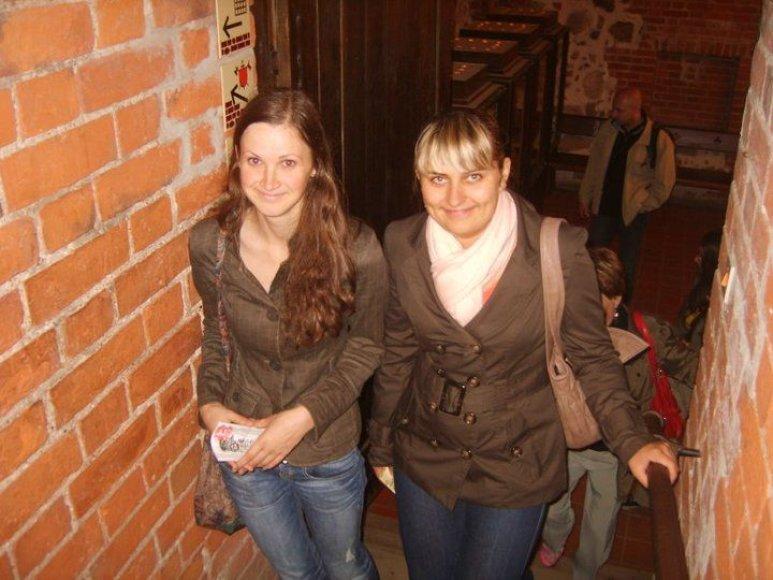 Gabija (kairėje) su drauge mėgavosi studentišku gyvenimu