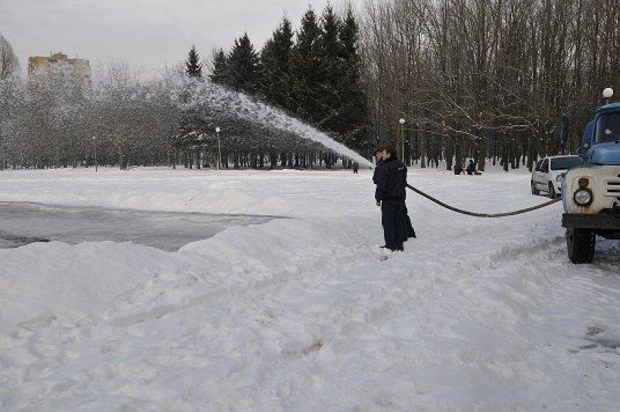 Lieja čiuožyklą