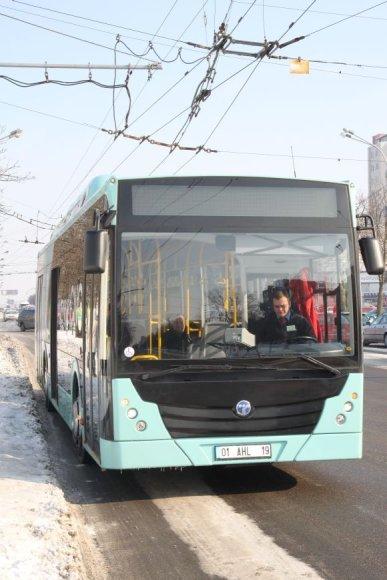 Ekologiškas autobusas šiuo metu išbandomas Kauno rajone