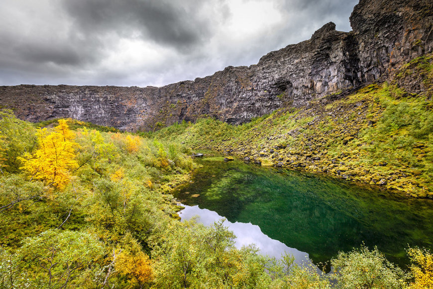 Shutterstock nuotr./Asbyrgi kanjonas