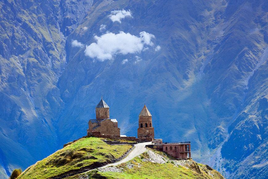 Shutterstock nuotr./Gergeti bažnyčia