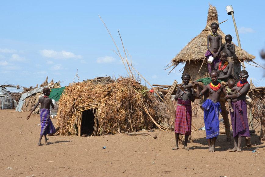 Dano Pankevičiaus nuotr./Etiopija. Daasanach genties kaimelis