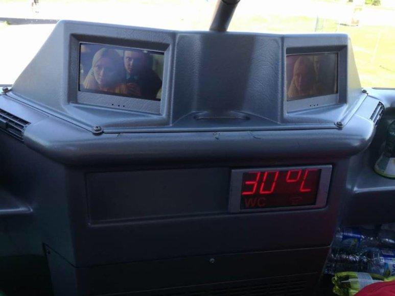 Arno Zacesino nuotr./Oro temperatūra autobuse – sumeluoti neleidžia termometras