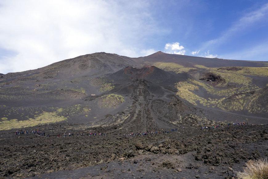 Asmeninės nuotr./Etnos ugnikalnis