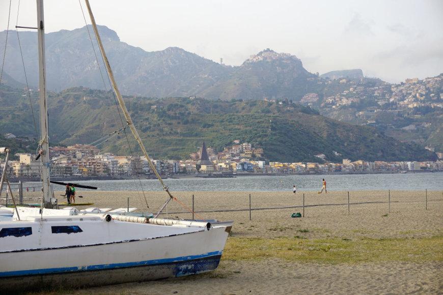 """Asmeninės nuotr./""""Giardini Naxos"""" paplūdimys"""