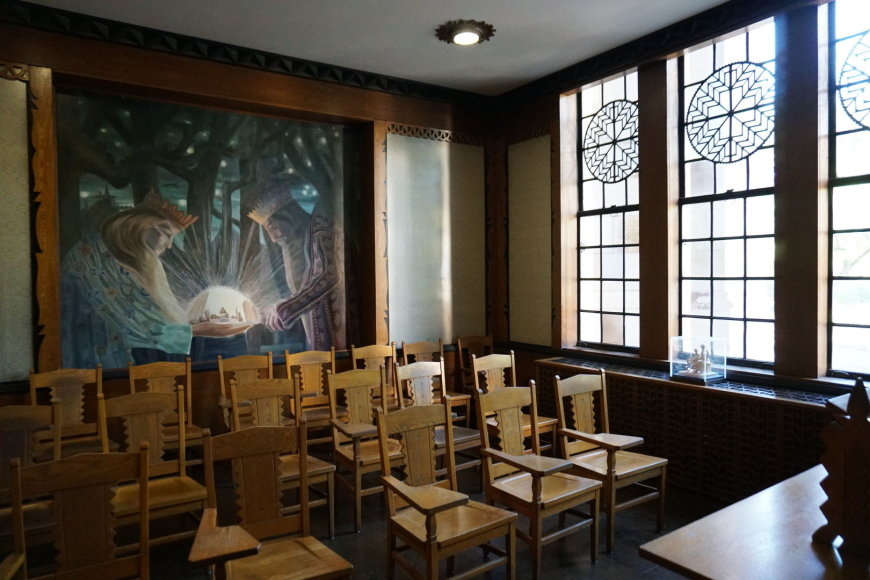 """Tikslas – Amerika"" projekto nuotr./Lietuvišku stiliumi įrengta Pitsburgo universiteto auditorija"