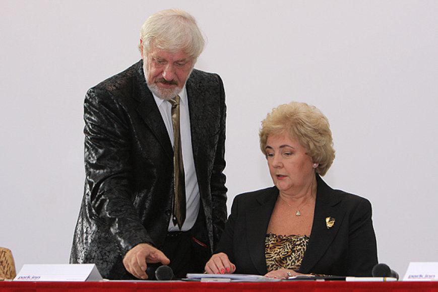 V.Šustauskas ir K.Brazauskienė