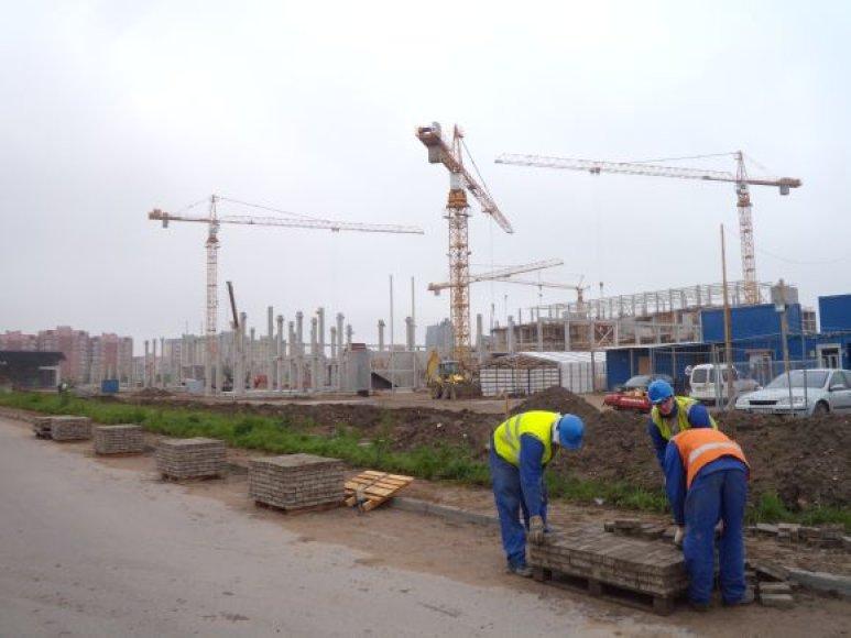 Arenos statybos vyksta gana sklandžiai.