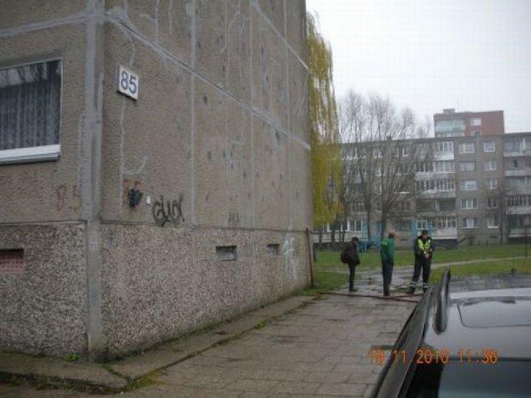 Policininkai pastebėjo du vyriškius, kurie ir nešėsi metalines skalbinių džiovyklų dalis.