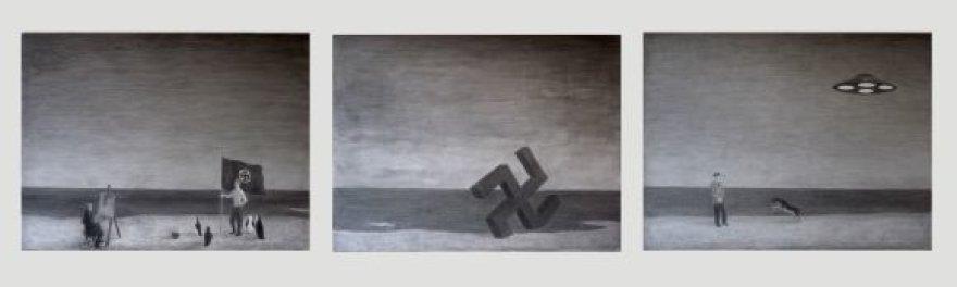 K.Gaitanži iliustracijose kalbama apie nacių bazę Antarktidoje.
