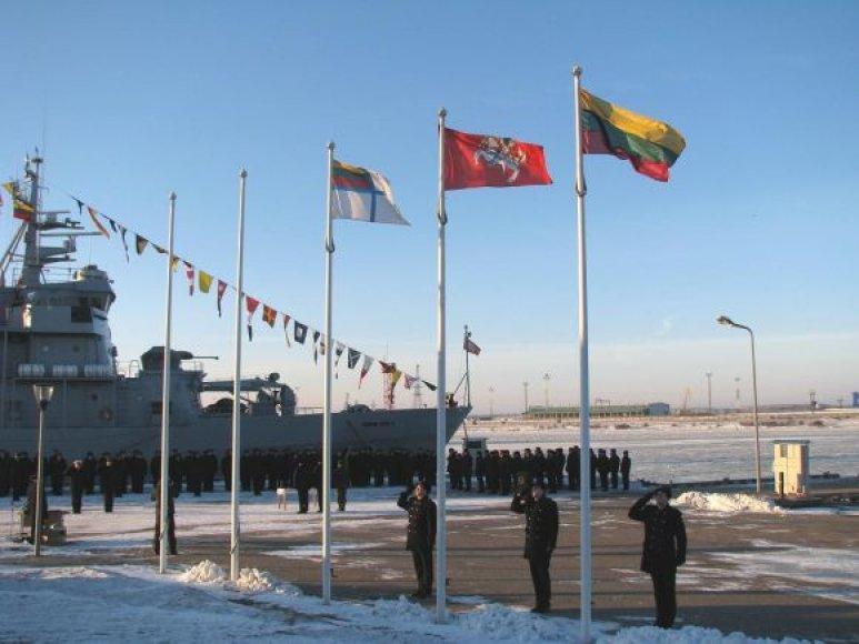 Karinės jūrų pajėgos paminėjo Vasario 16-ąją.