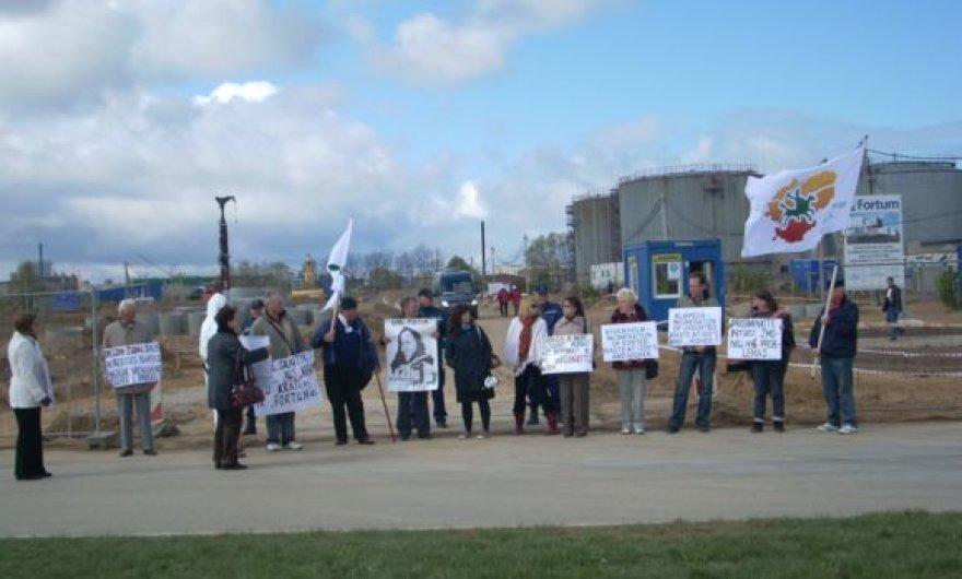 Protestuoto akcija buvo suorganizuota Laisvojoje ekonominėje zonoje.