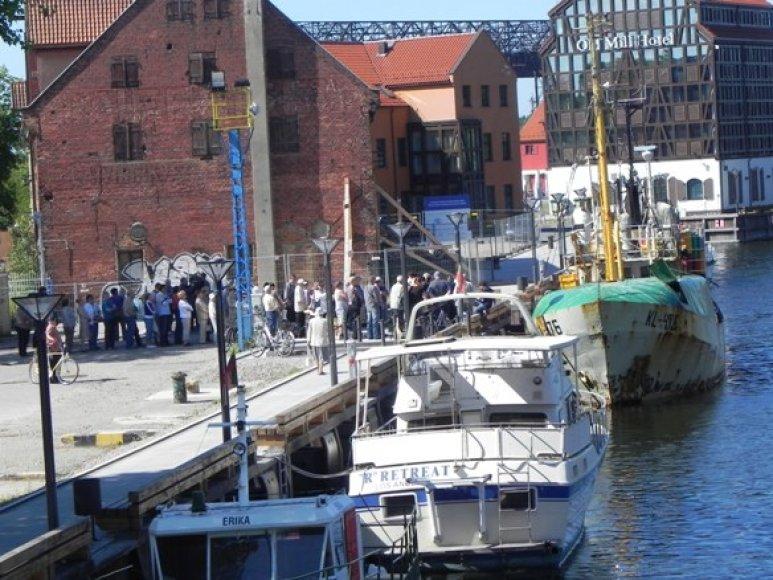 Prekyba buvo organizuojama Danės krantinėje.