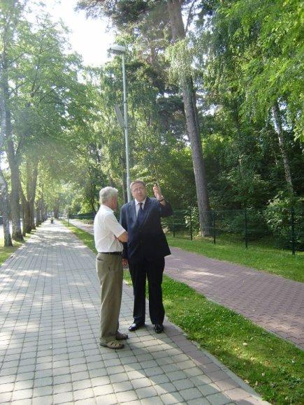 Džiazuojančios gatvės vizualinį vaizdą įvertino kurorto meras Šarūnas Vaitkus bei Palangos komunalinio ūkio vadovas Konstantinas Skierus.