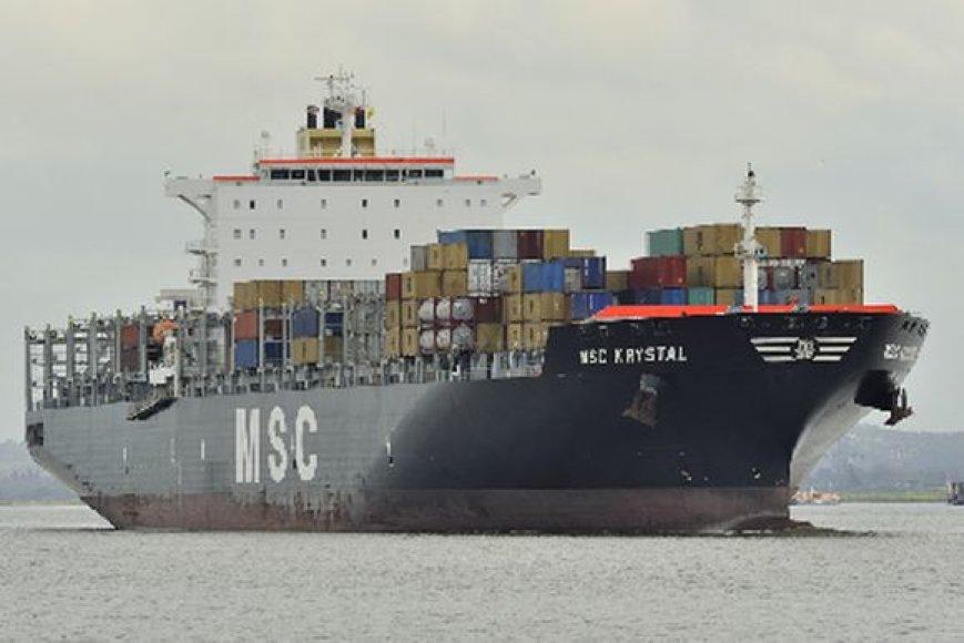 Į Klaipėdos uostą penktadienį įplaukė rekordinio dydžio laivas.