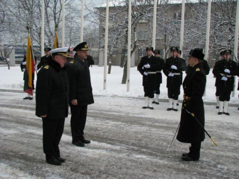 Danijos karinių jūrų pajėgų vadas vieši Klaipėdoje