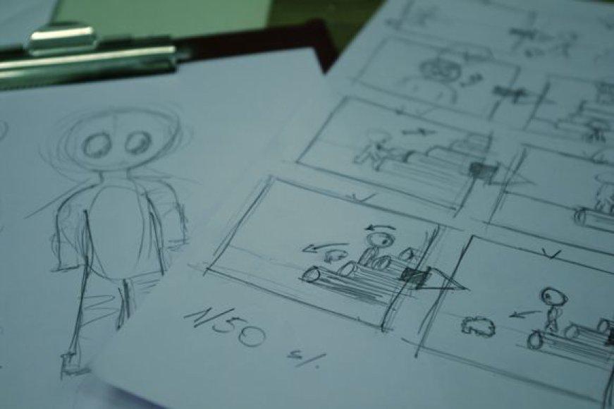 Animacijos studijose bus mokoma įvairiausių technikų.