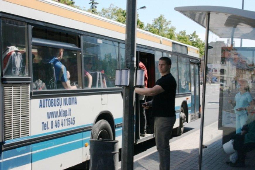 Klaipėdos autobusuose - nauja tvarka.