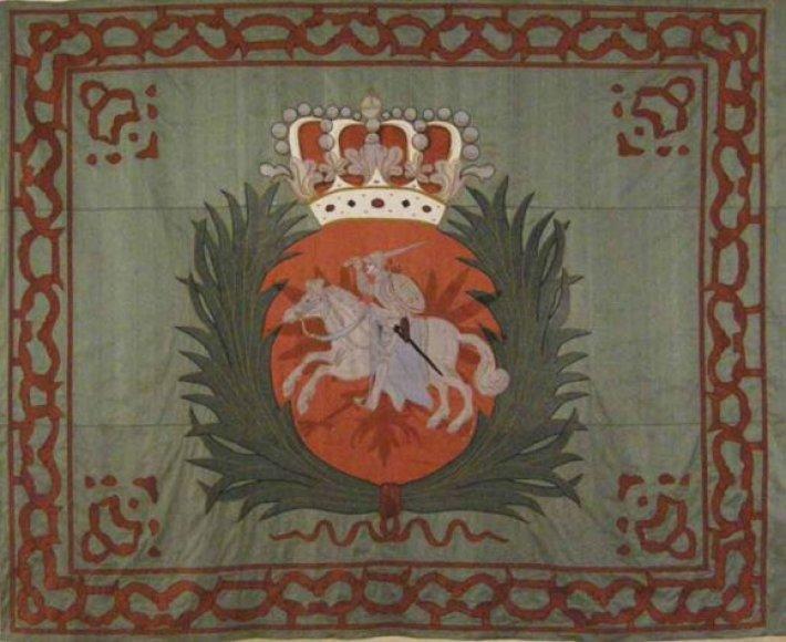 Istorinė Augusto II vėliava atkurta bendradarbiaujant su Stokholmo karo muziejumi.