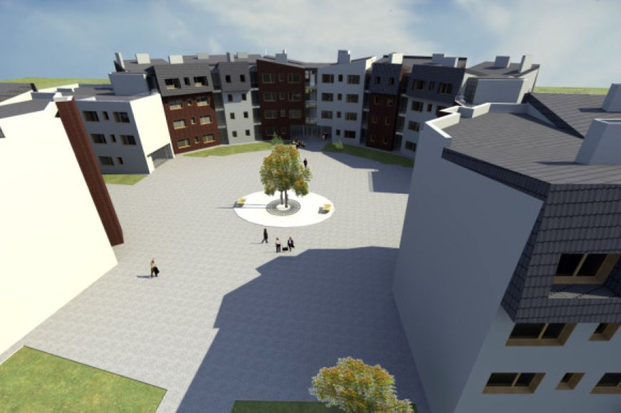 Klaipėdoje planuojamas naujas kvartalas studentams.