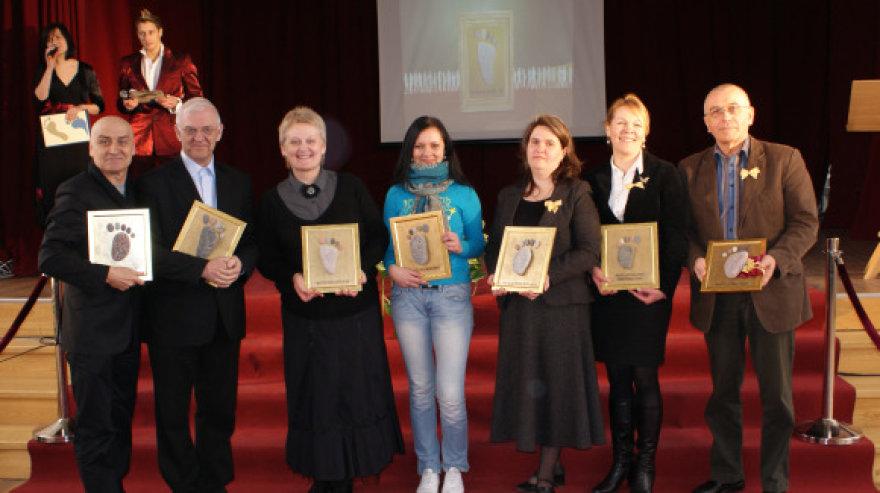 Pirmieji apdovanojimų laureatai Kęstutis Meškys, Algirdas Guzauskas, Vita Petrauskienė, Živilė Narvilaitė, Vilma Skvarčinskienė, Inga Gelžinytė, Artūras Kiguolis.