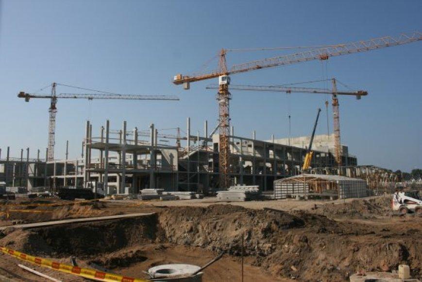 Klaipėdos areną planuota baigti dar iki 2011-ųjų. Bet kol kas atsiliekama nuo terminų.