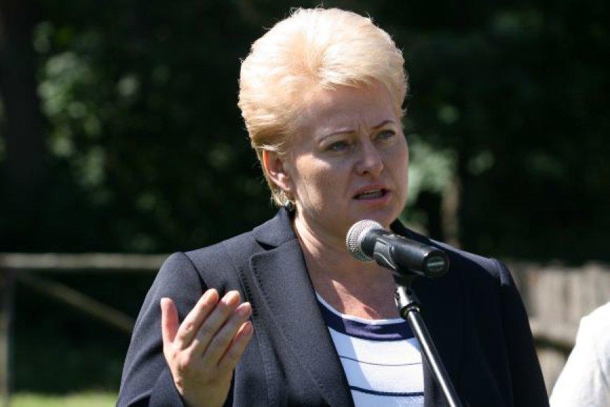 Dalia Grybauskaitė pirmą kartą oficialiu vizitu lankėsi Klaipėdoje.