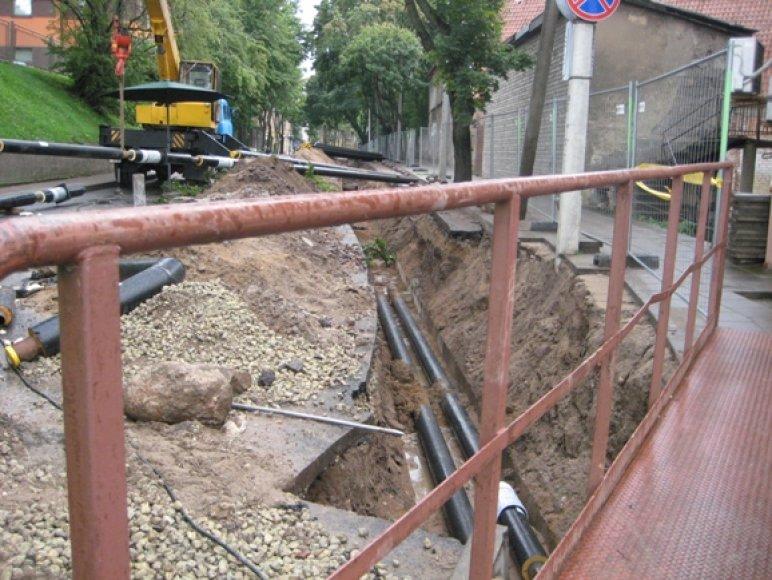 Dėl vykstančių darbų kurį laiką ribojamas eismas Galinio Pylimo gatve.