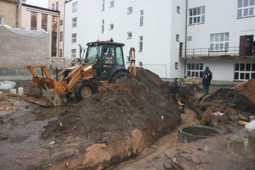 """""""Gintaro"""" baseino rekonstrukcija įsibėgėjo. Darbus užbaigti ketinama iki kitų metų kovo."""