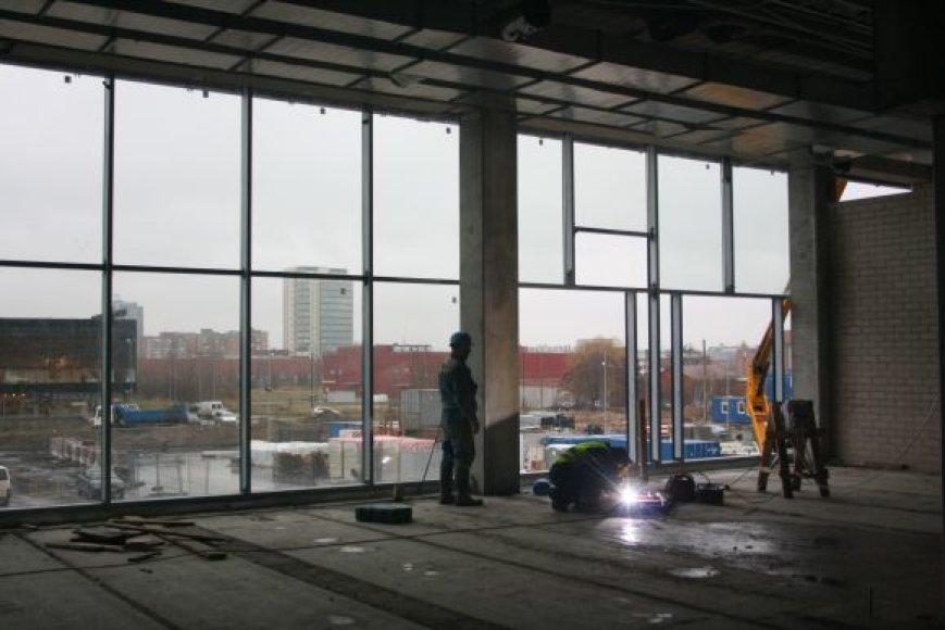 Klaipėdos arenoje verda statybos.
