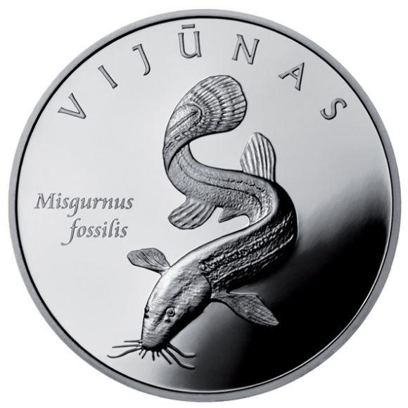 Išleista moneta su vijūno atvaizdu.