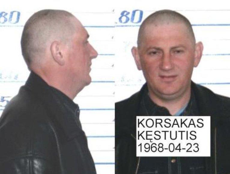 Pareigūnai ieško K.Korsako, įtariamo nužudymu.