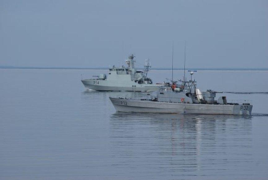 Baltijoje vyko kariniai mokymai.