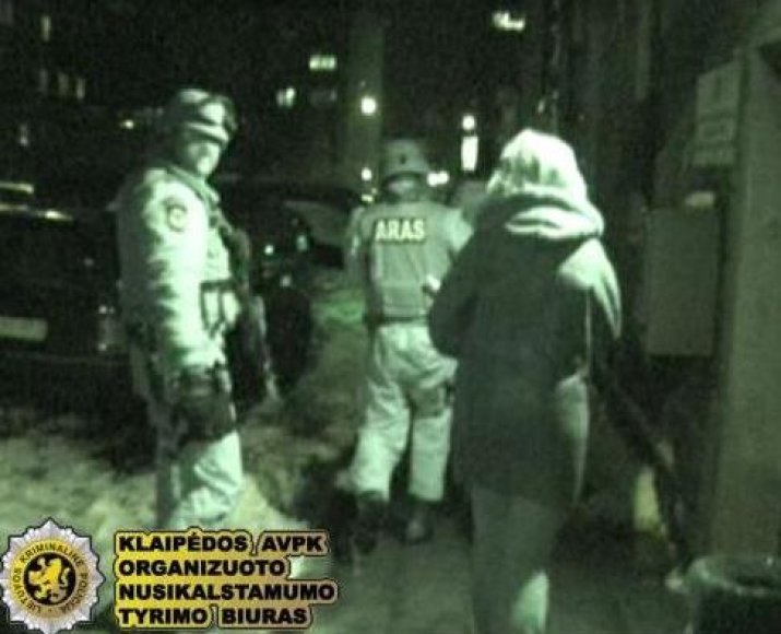 Klaipėdoje buvo sulaikyta narkotikus platinusi grupuotė.
