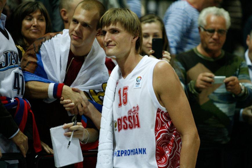 Andrejus Kirilenko ir Klaipėdoje nestokojo gerbėjų.