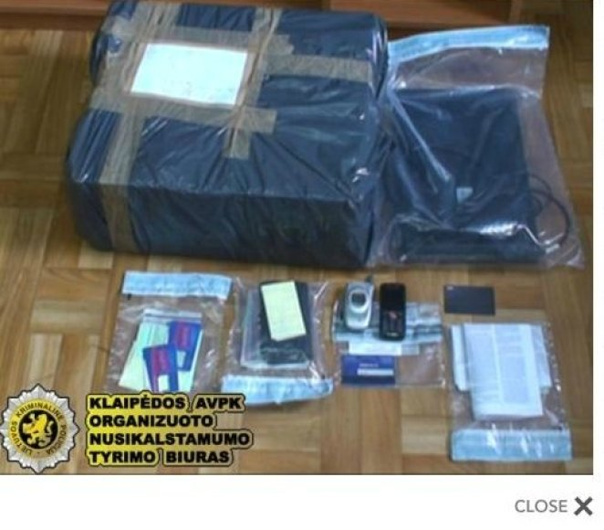 Iš sukčių konfiskuoti daiktai